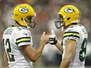 Aaron Rodgers et Jordy Nelson des Packers