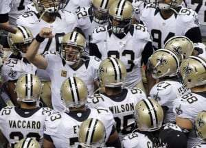 Drew Brees des Saints motive sa troupe
