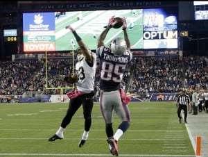 Touché victorieux de Thompkins des Patriots avec 5 secondes à faire au cadran!