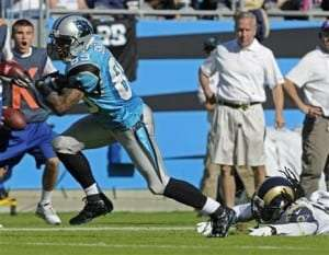 Le receveur des Panthers Steve Smith