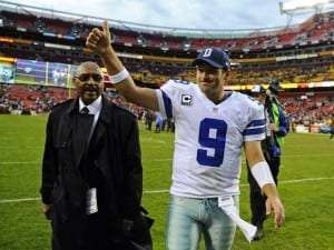 Le quart des Cowboys Tony Romo
