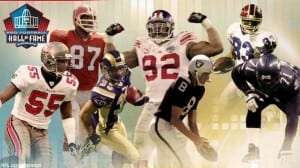 Aeneas Williams, Michael Strahan, Derrick Brooks, Walter Jones, Andre Reed, Ray Guy, Claude Humphrey
