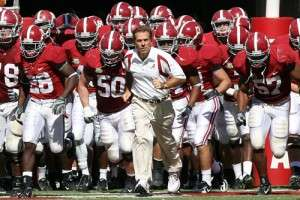Nick Saban et les Crimson Tide d'Alabama
