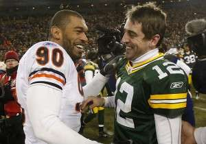 Julius Peppers & Aaron Rodgers