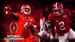 Clemson vs Alabama National Championship